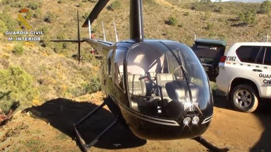 Intervenido en Torremolinos un narcohelicóptero con 200 kilos de hachís