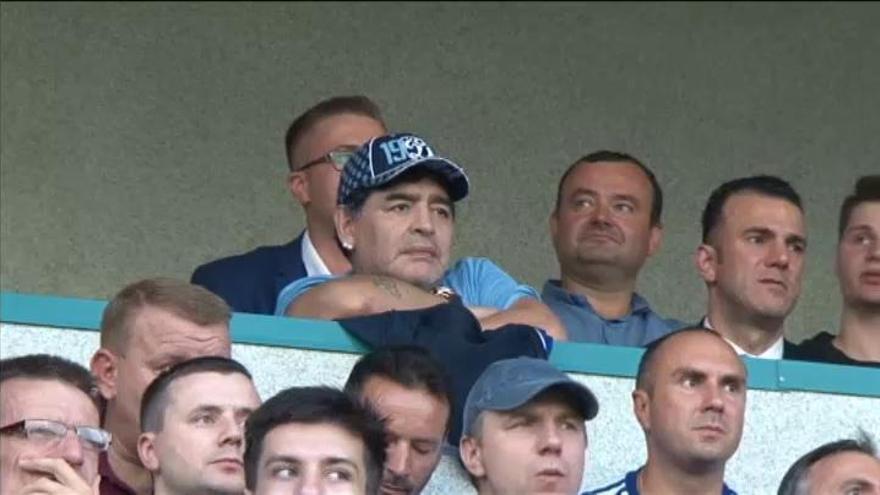 Maradona desembarca a lo grande en la liga bielorrusa