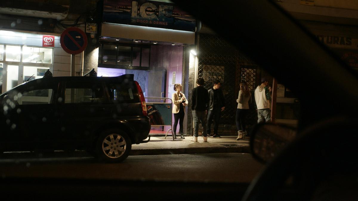 """Una discoteca hace años en el local que ocupó la sala """"Tayko"""", en la calle La Cámara."""