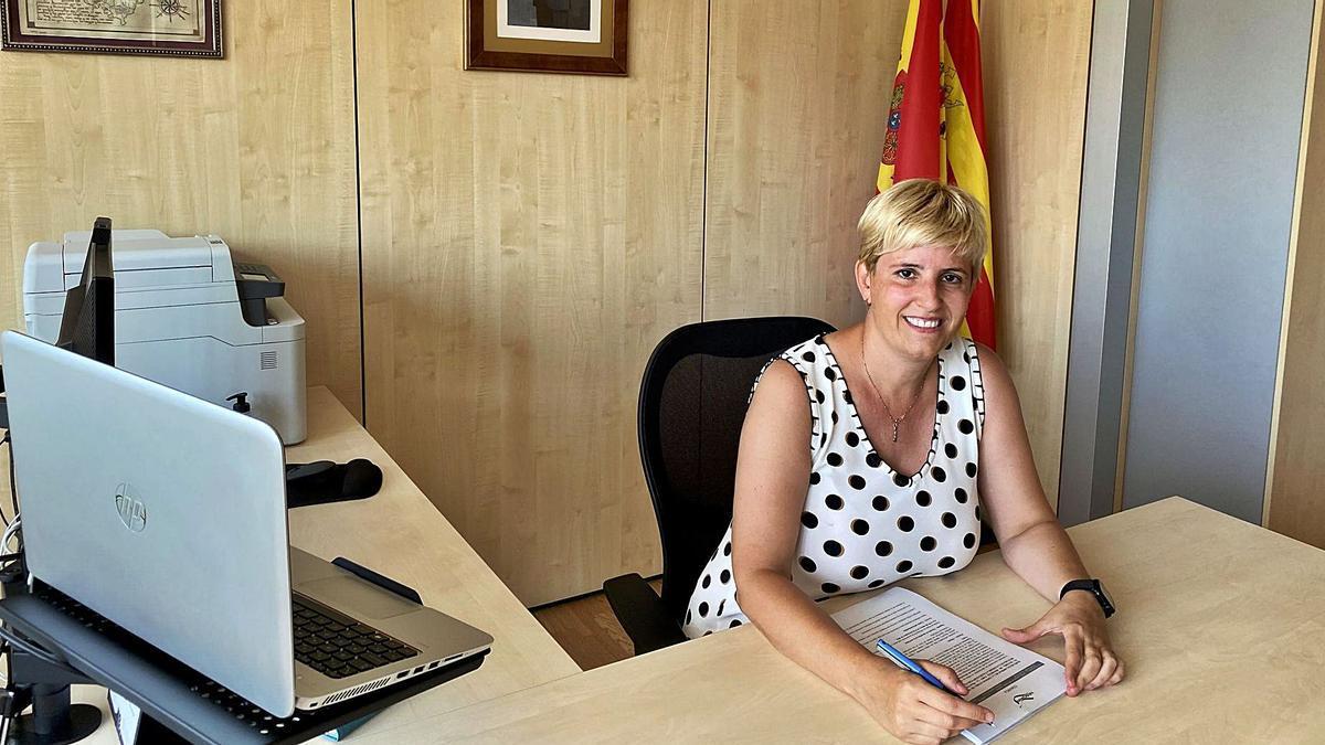 Marta Gimeno, presidenta de la Comarca de Valdejalón. | SERVICIO ESPECIAL