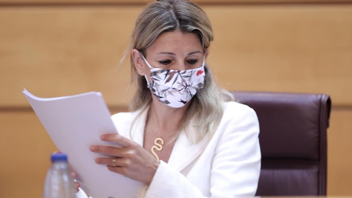 La vicepresidenta Tercera del Gobierno y Ministra de Trabajo, Yolanda Díaz.