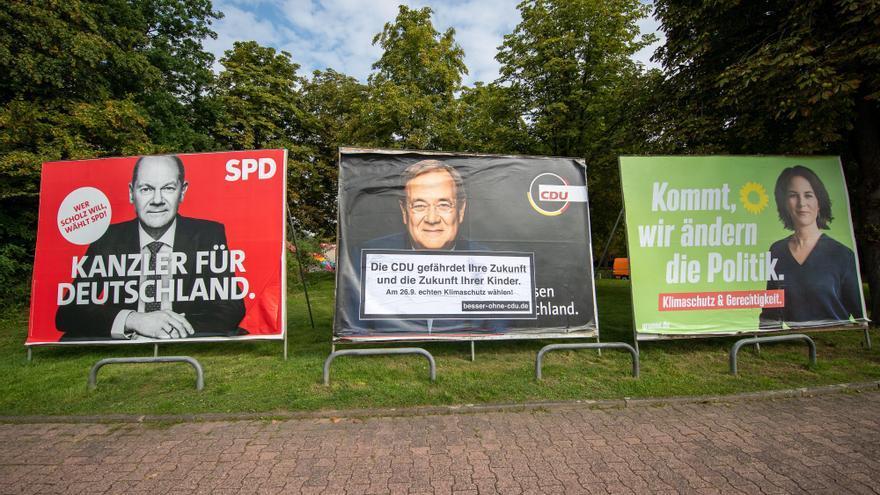 Alemania entra en la recta final de una campaña electoral con inéditos altibajos