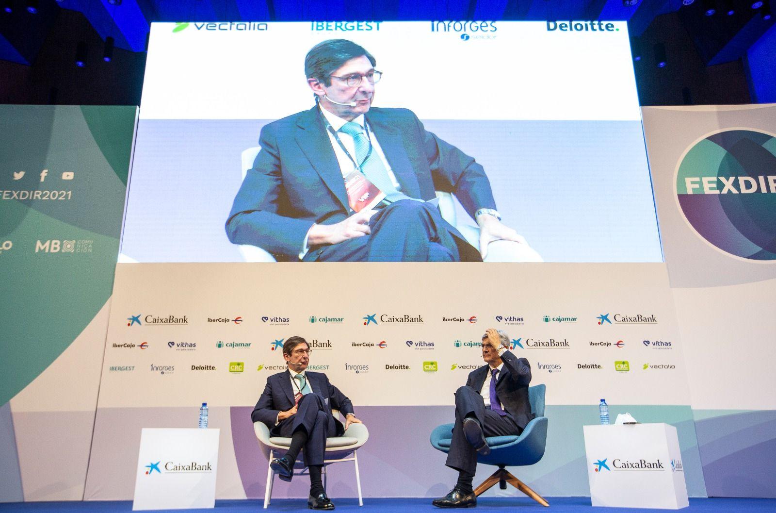 El presidente de CaixaBank, José Ignacio Goirigolzarri, participa en el III Foro Fexdir celebrado en Alicante