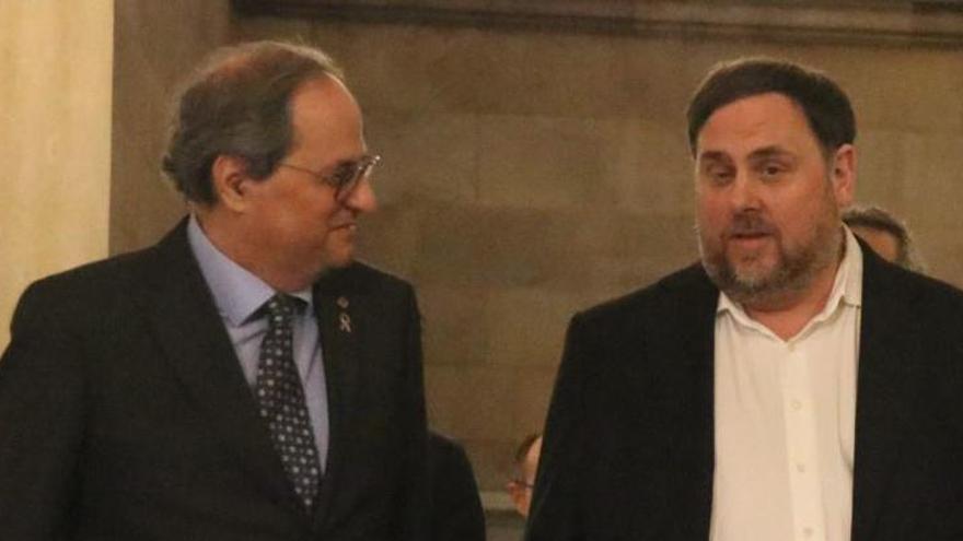 Junqueras i Torra van abordar l'avançament electoral a Palau la setmana passada