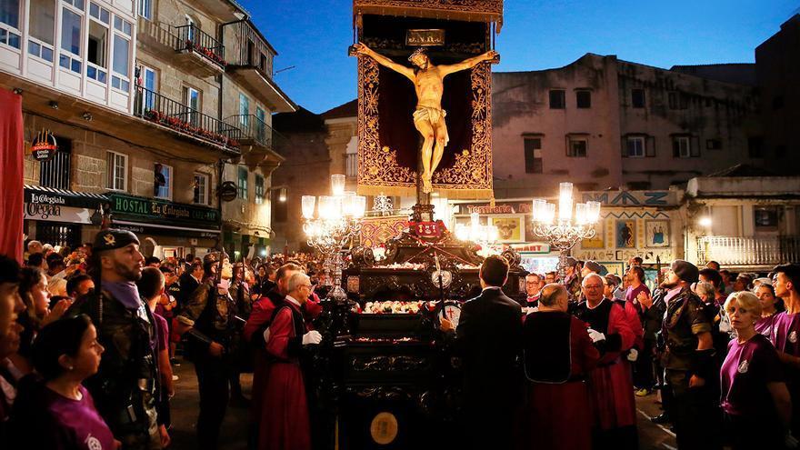 Una procesión del Santo Cristo en el siglo XIX