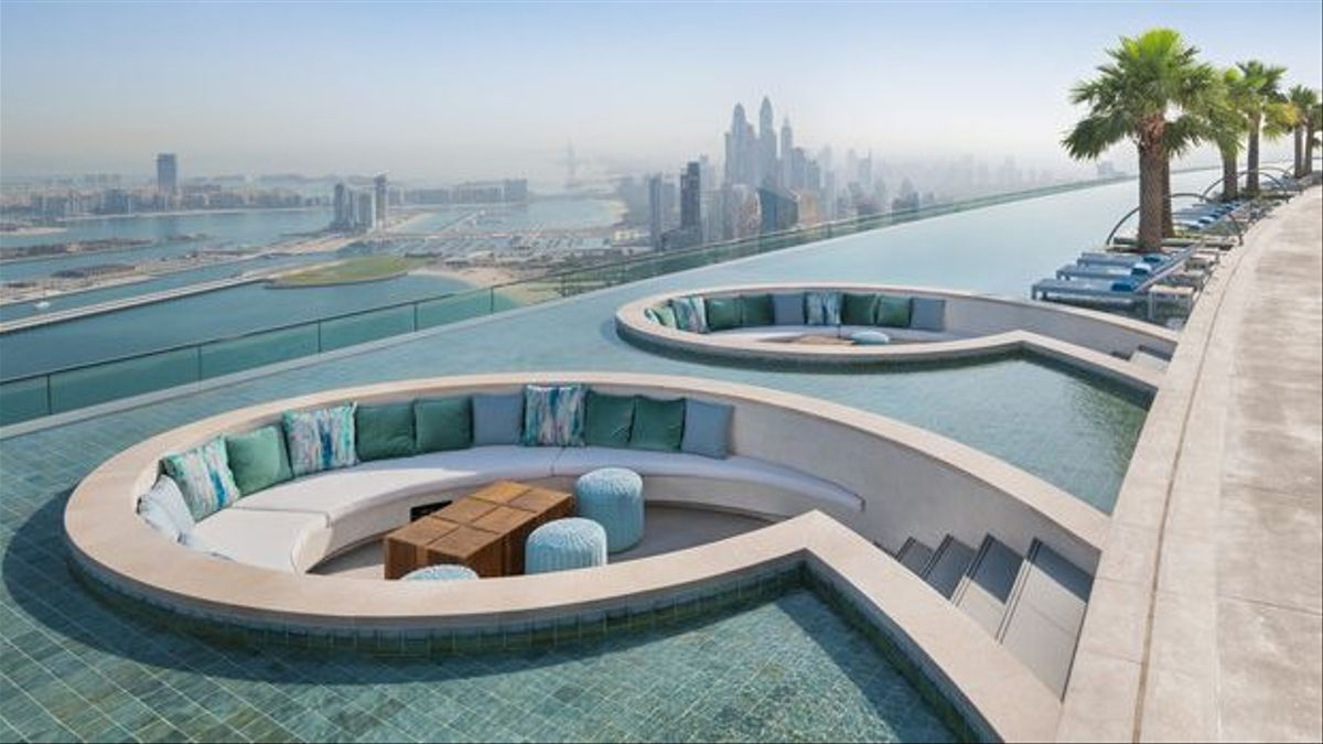 La piscina más alta del mundo ofrece las mejores vistas de la playa de Jumeirah