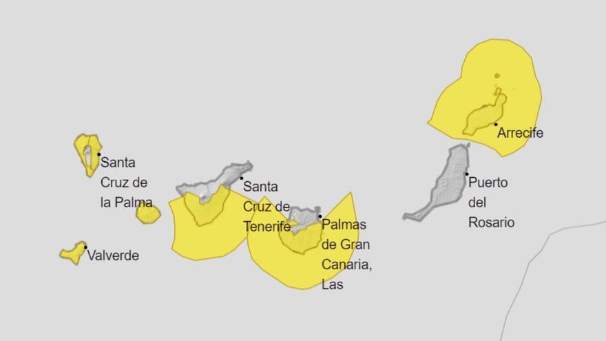 Solo Fuerteventura se libra de los avisos amarillos por viento y oleaje