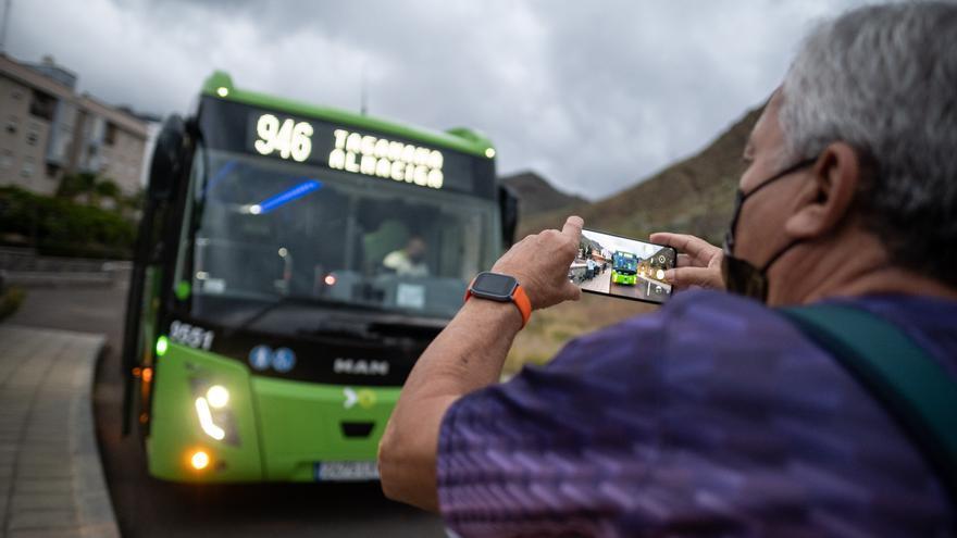 Titsa habilita el transbordo dentro de San Andrés para usuarios de Taganana
