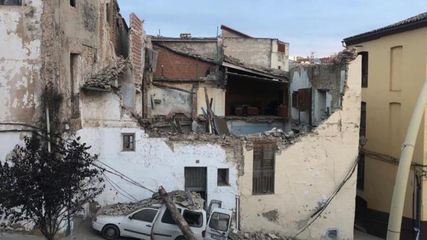 Otra casa se hunde en la Vila mientras la inversión del Consell sigue atascada