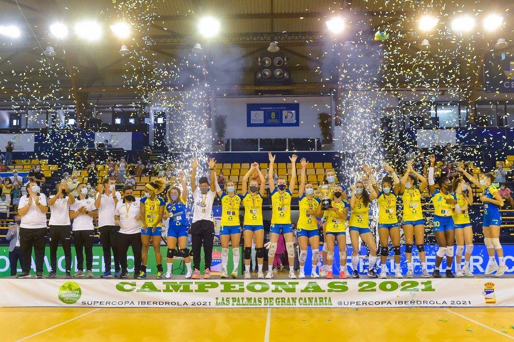 El Gran Canaria Urbaser, campeón de la Supercopa de voleibol