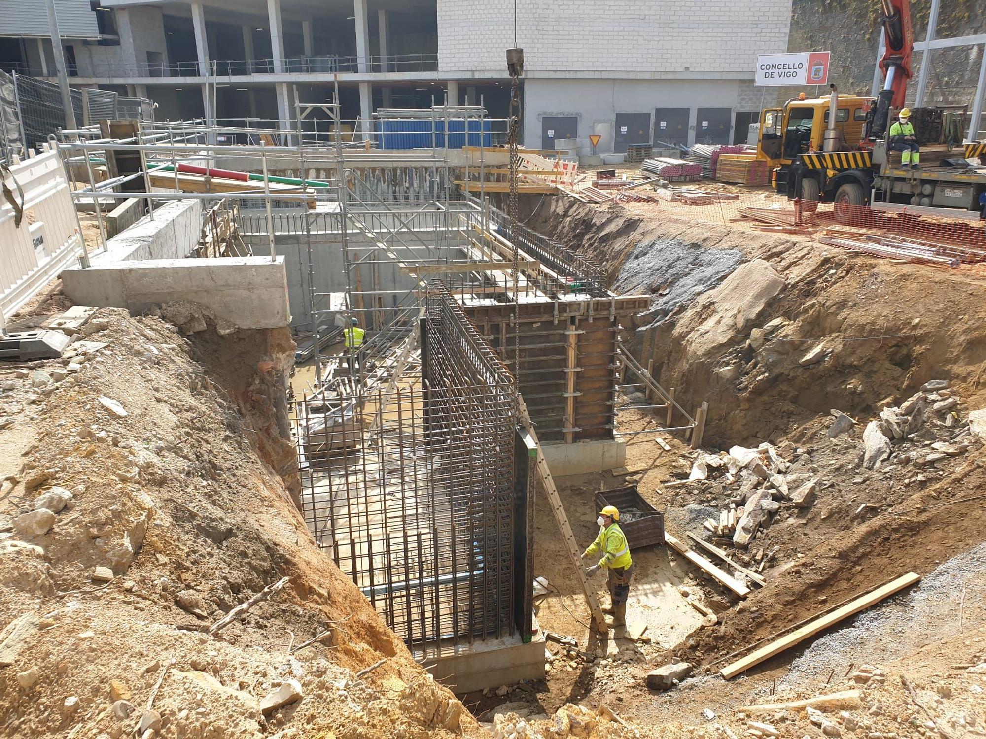 Visita a las obras de la nueva estación de autobuses de Vigo