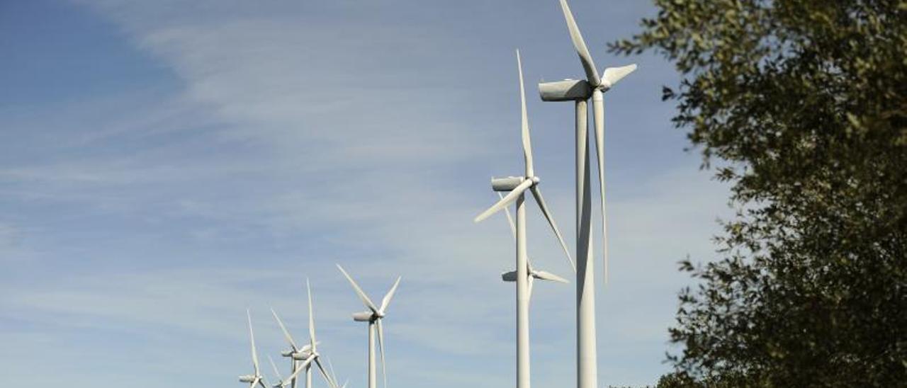 Aerogeneradores en uno de los parques eólicos de Galicia.