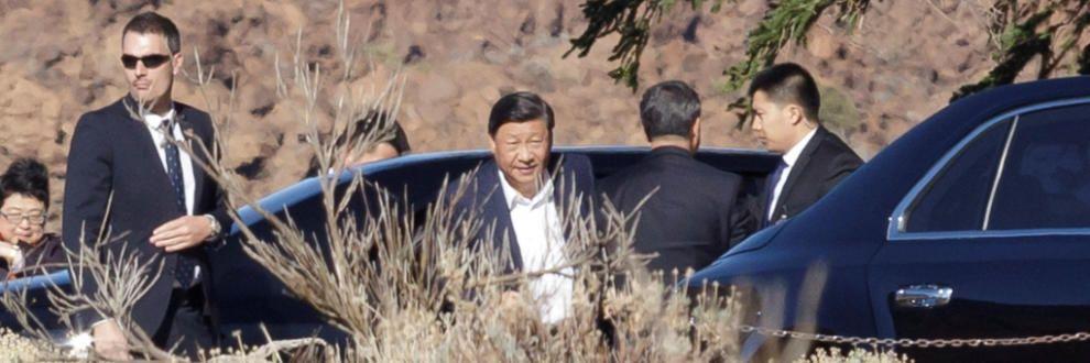 El presidente de China visita el Teide.