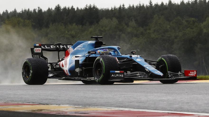 Alonso y Sainz saldrán 14º y 12º en el GP de Bélgica