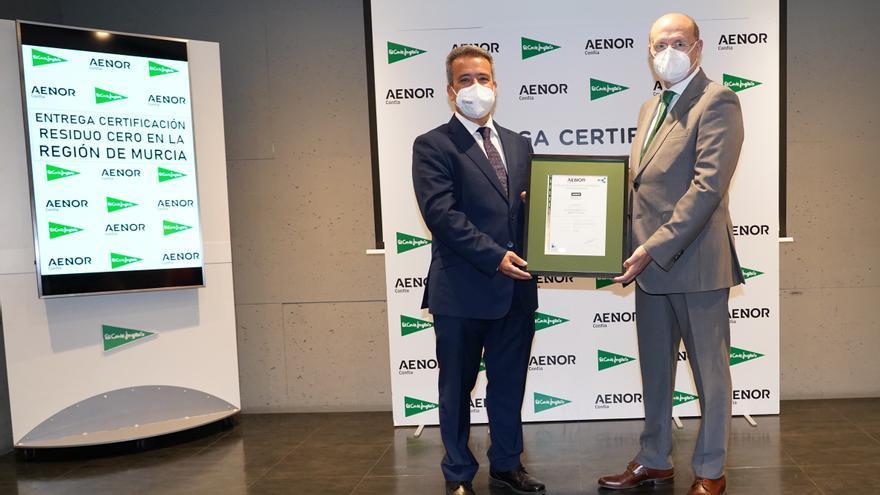 El Corte Inglés consigue la certificación AENOR de 'Residuo Cero' para todos sus centros de la Región