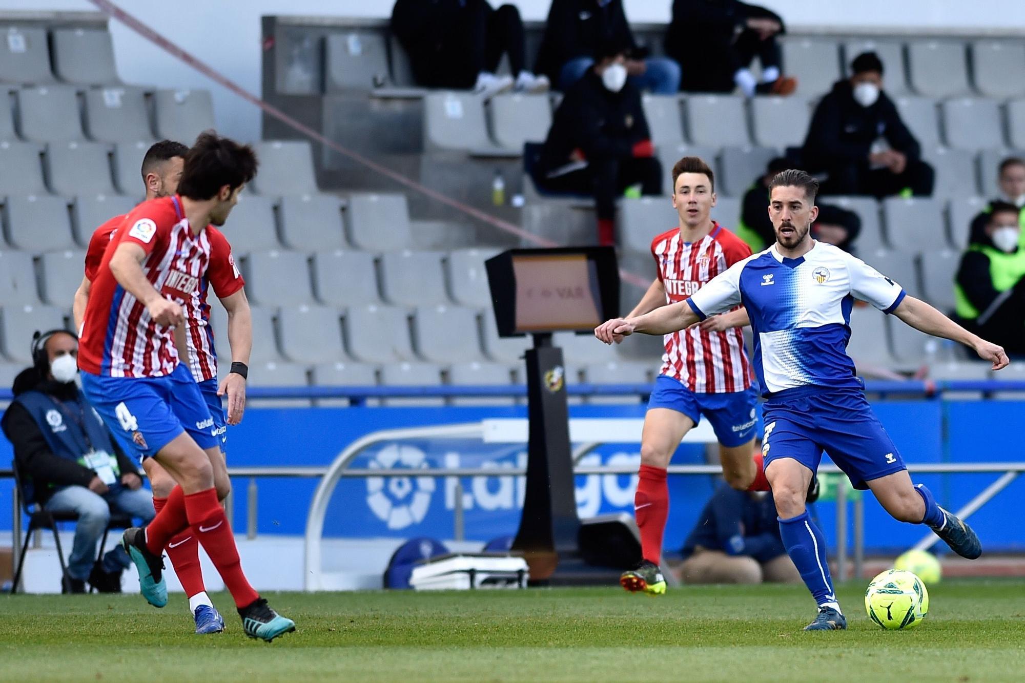 El partido del Sporting ante el Sabadell, en imágenes