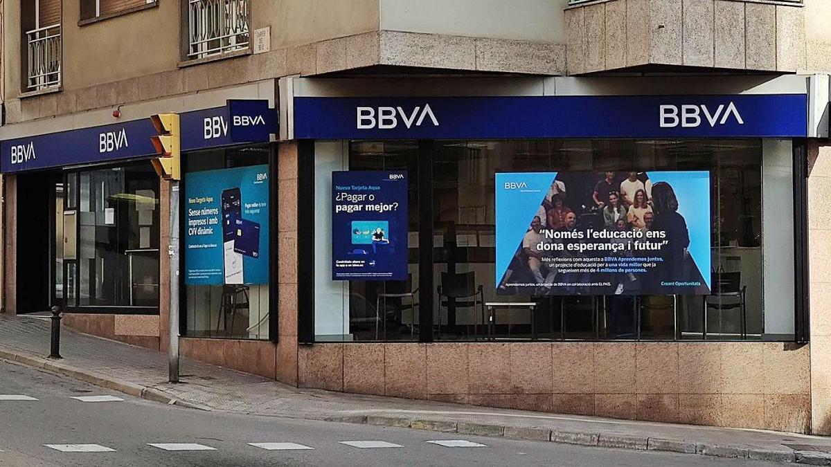El BBVA tancarà quatrede les seves oficines de Manresa el 14 de febrer