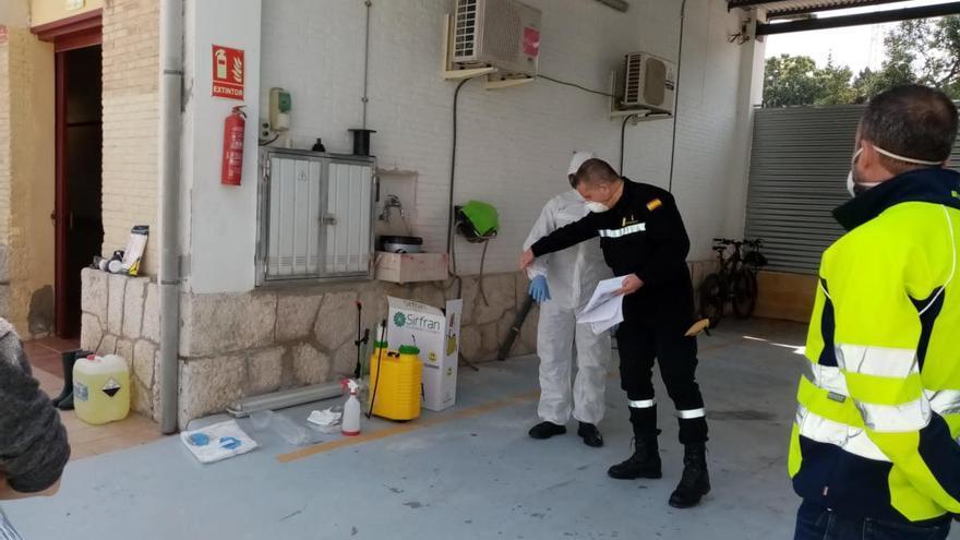 La Unidad Militar de Emergencias colabora con el Ayuntamiento de Ontinyent en la prevención de la covid-19