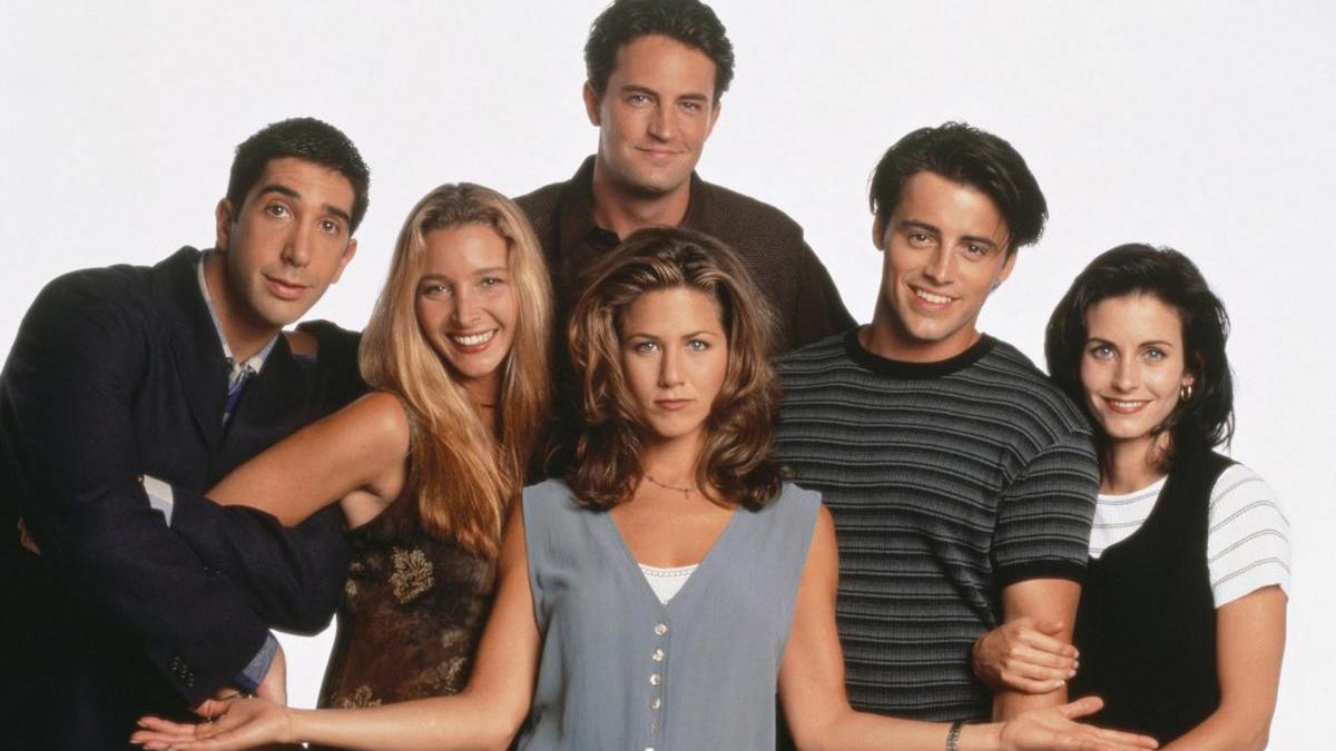Los protagonistas de 'Friends' en un cartel de la serie.