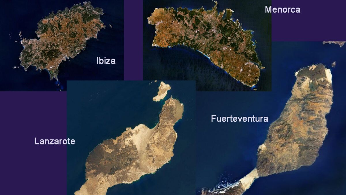Lanzarote, Ibiza, Fuerteventura y Menorca: cuatro realidades ecológicas