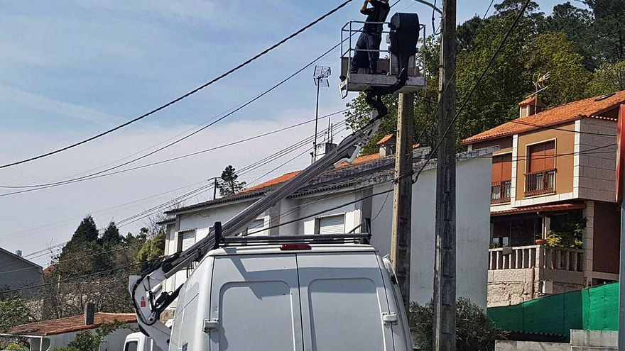Moaña ultima la adjudicación de la electricidad, aunque dos de los lotes quedan desiertos