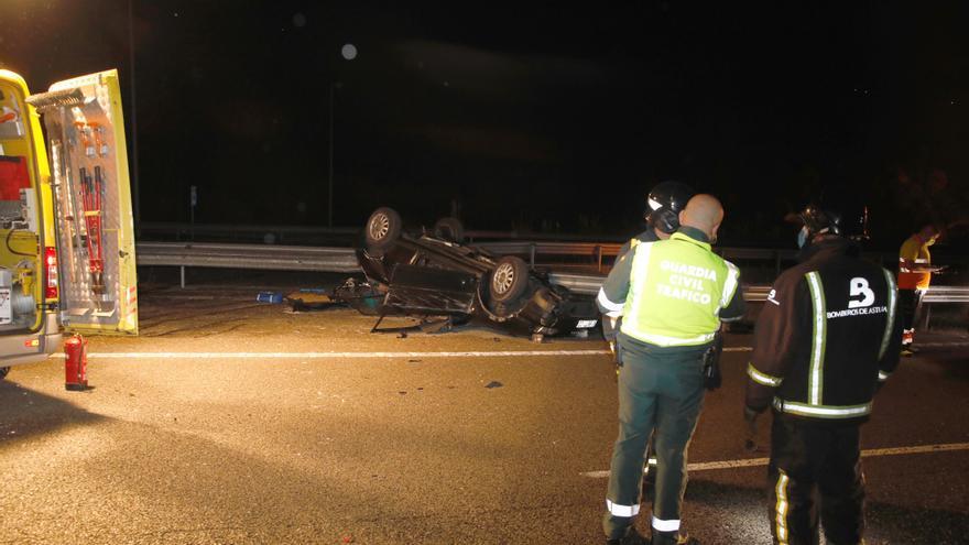 Una sexagenaria y su cuidadora, de 22 años, las víctimas mortales del accidente de la Autovía en Villaviciosa