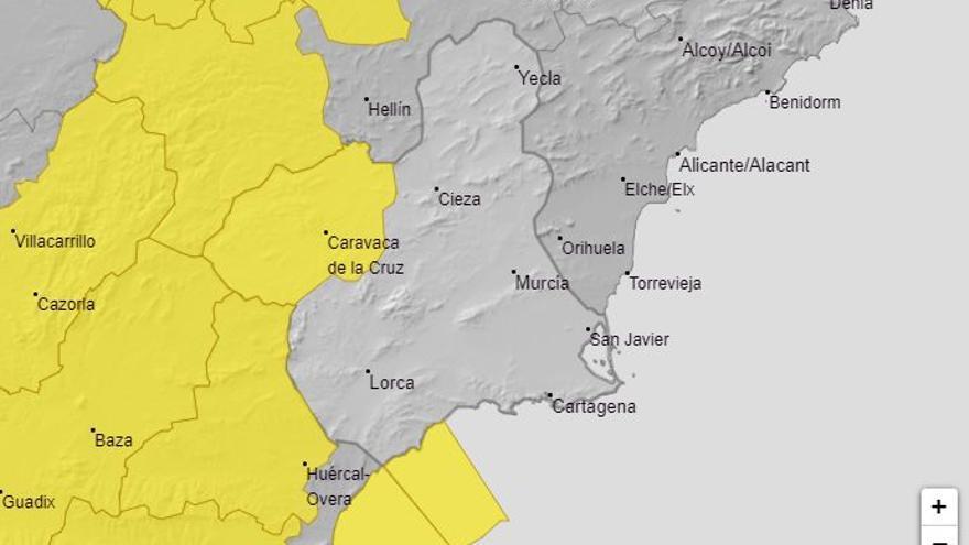 Aviso amarillo en la Región este jueves por tormentas y fuertes vientos