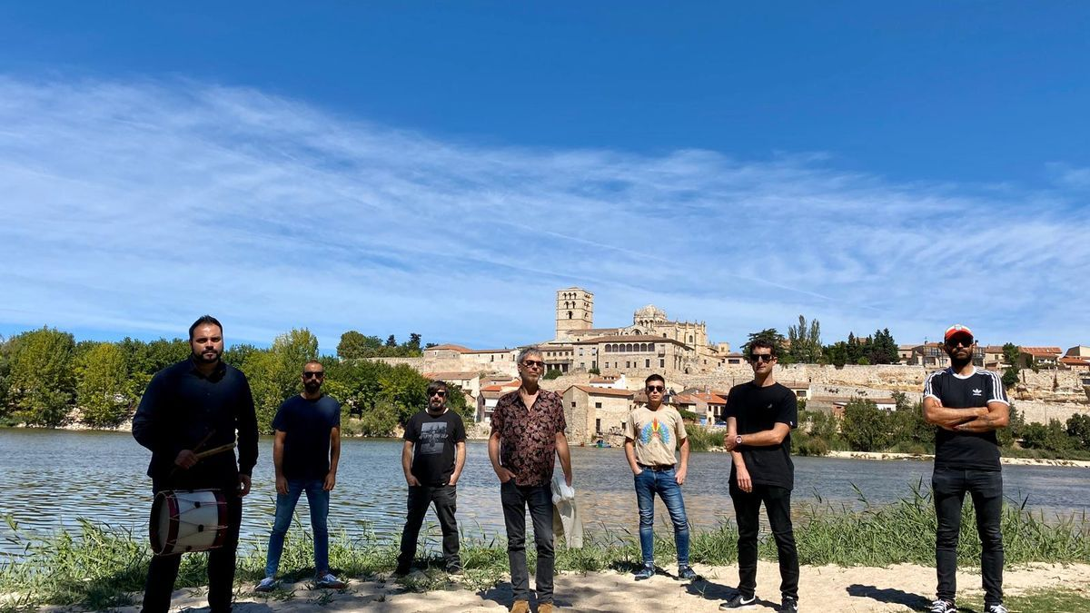 Un momento de la grabación del programa de televisión en Zamora.