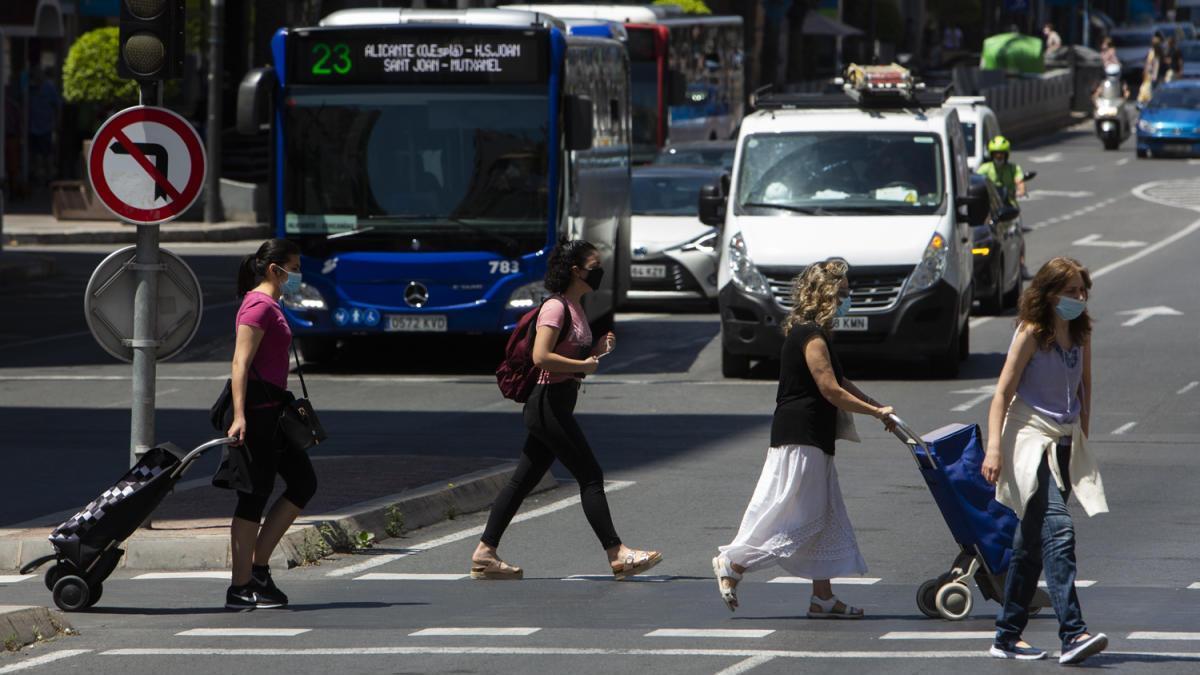 El nivel de contaminación que provoca el tráfico urbano cayó un 80% en AIicante durante el confinamiento por el covid