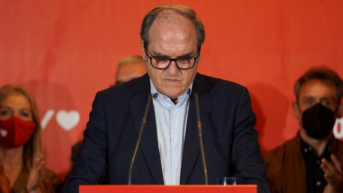 El candidato socialista, Ángel Gabilondo, valora los resultados del 4-M