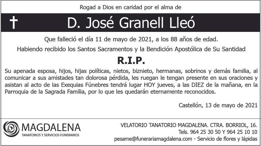 D. José Granell Lleó