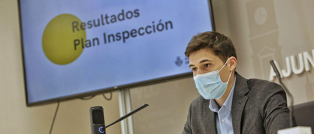 Borja Sanjuán durante la presentación del balance de inspecciones del año pasado. | LEVANTE-EMV