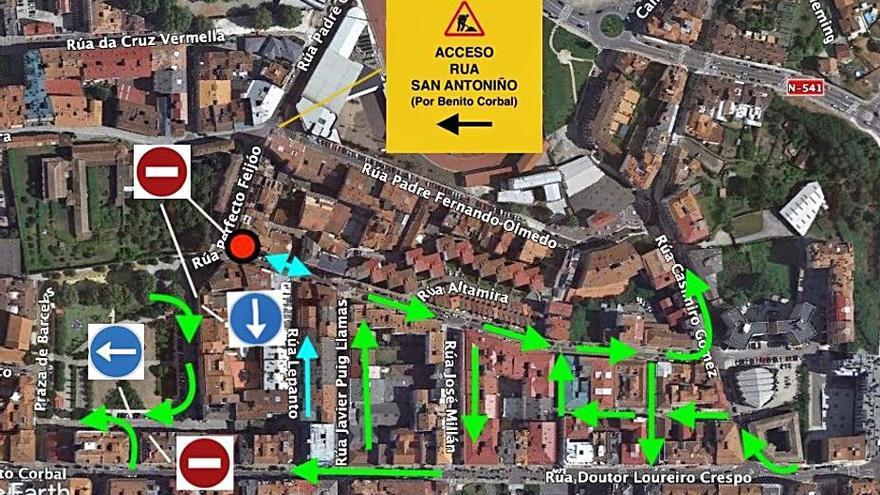 Las obras de asfaltado provocarán cortes puntuales en Teixoeira y 12 de Novembro