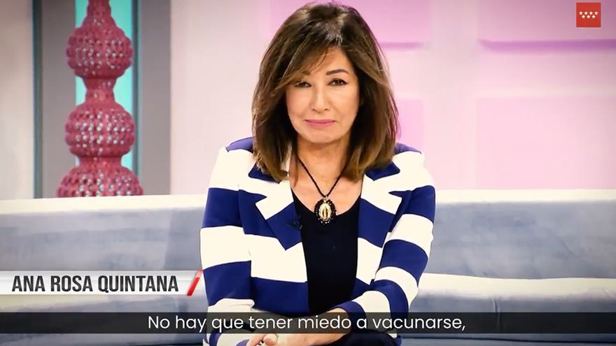 """Ana Rosa, Susanna Griso y Belén Esteban piden que te vacunes en un vídeo de Ayuso: """"Es la solución"""""""