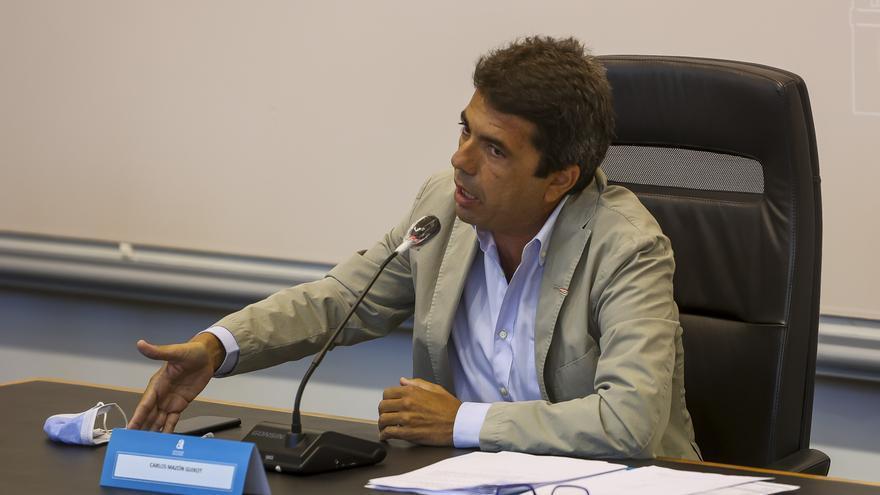 Mazón acusa a la Generalitat de abandonar al sector del comercio
