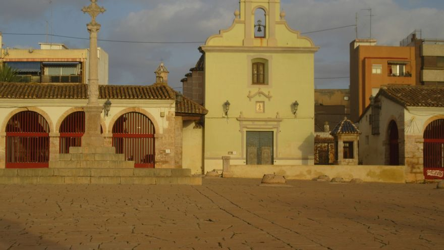 Un patio de Sant Roc sahariano