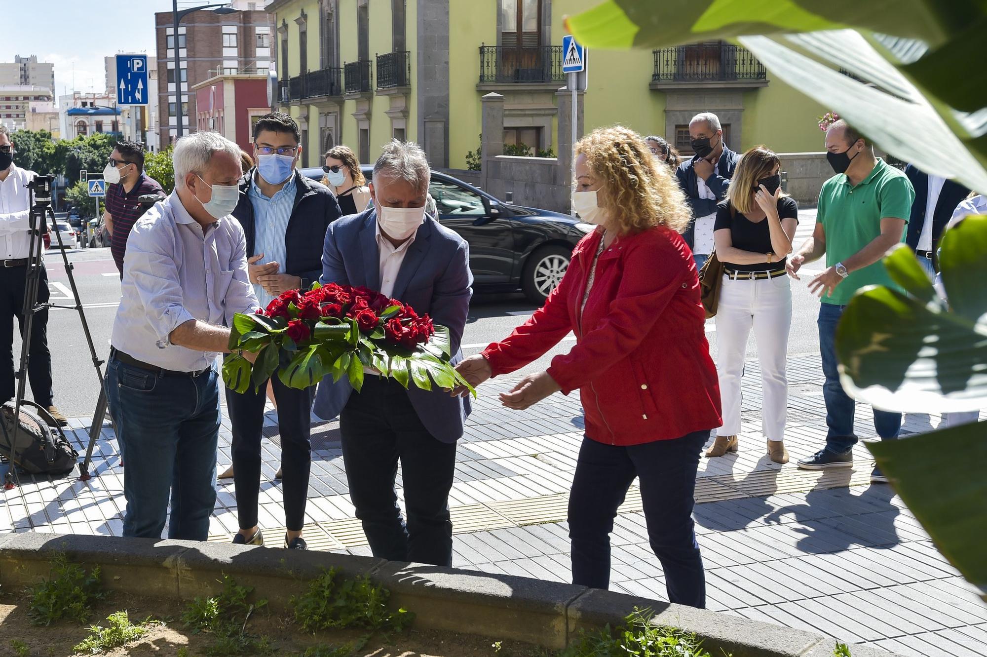 Homenaje al fundador del PSOE, Pablo Iglesias Posse