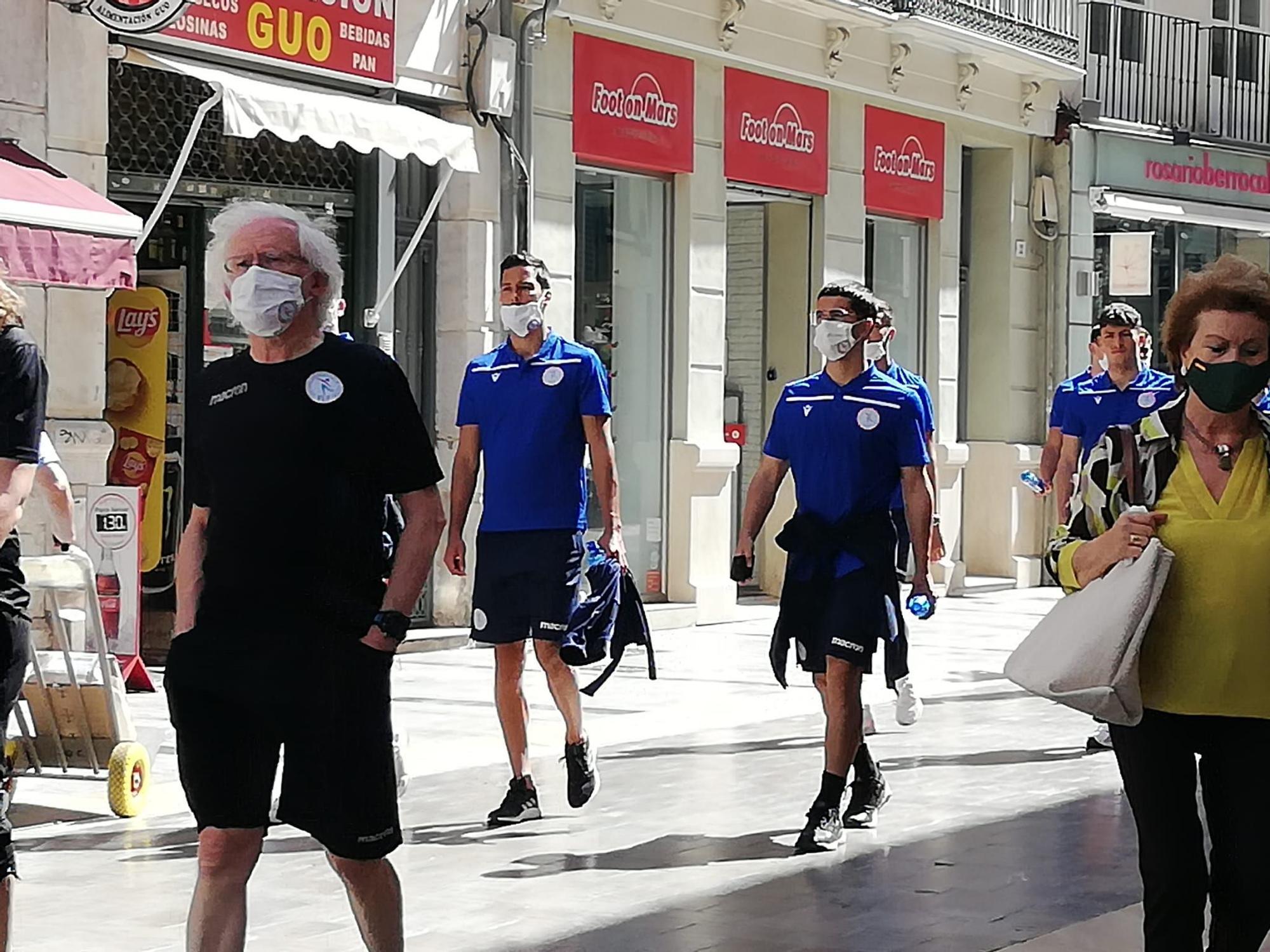 La selección de Luxemburgo, de paseo por el Centro de Málaga