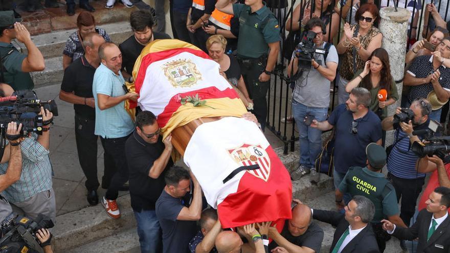 Funeral del futbolista José Antonio Reyes.