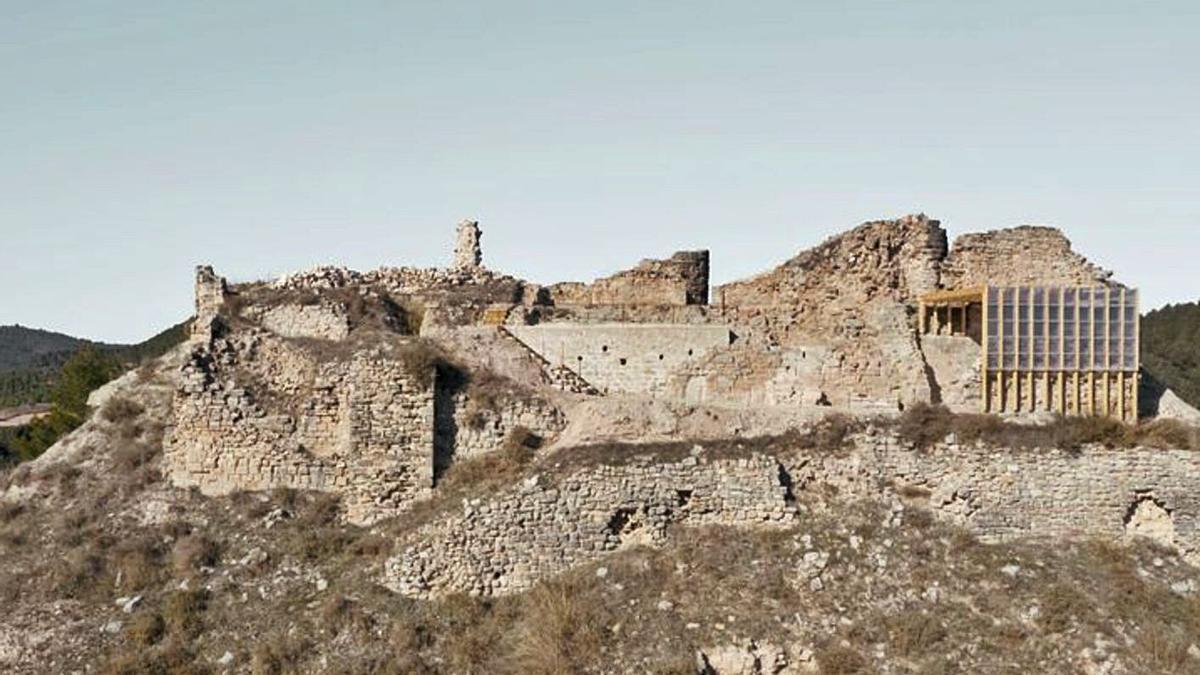 Una imatge de la intervenció realitzada al recinte de l'antic castell   AJUNTAMENT DE JORBA