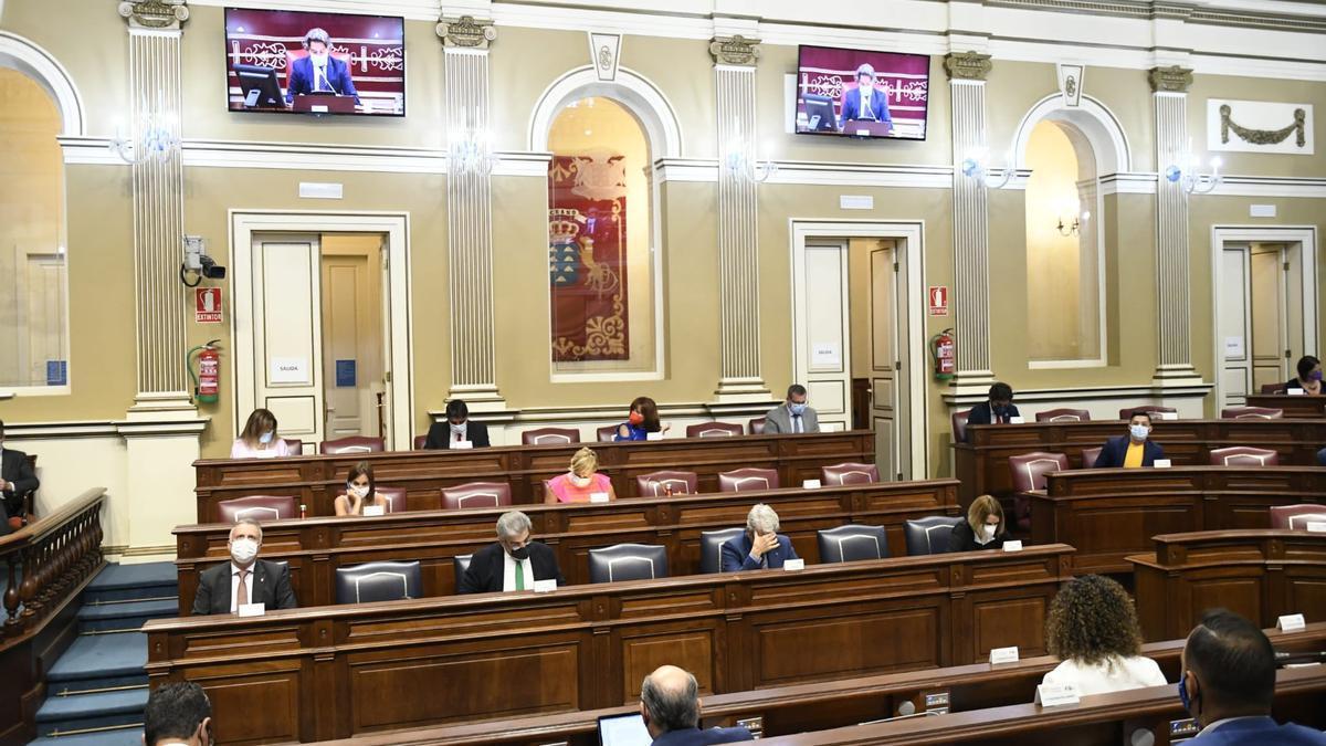 Pleno del Parlamento de Canarias, este martes.