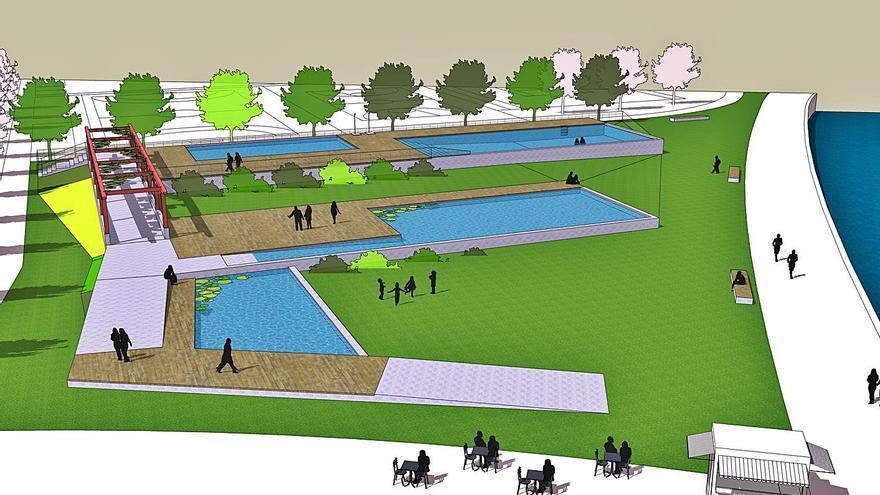 Sada prevé que la zona de piscinas esté lista en 2022 y estima un coste de 454.500 euros