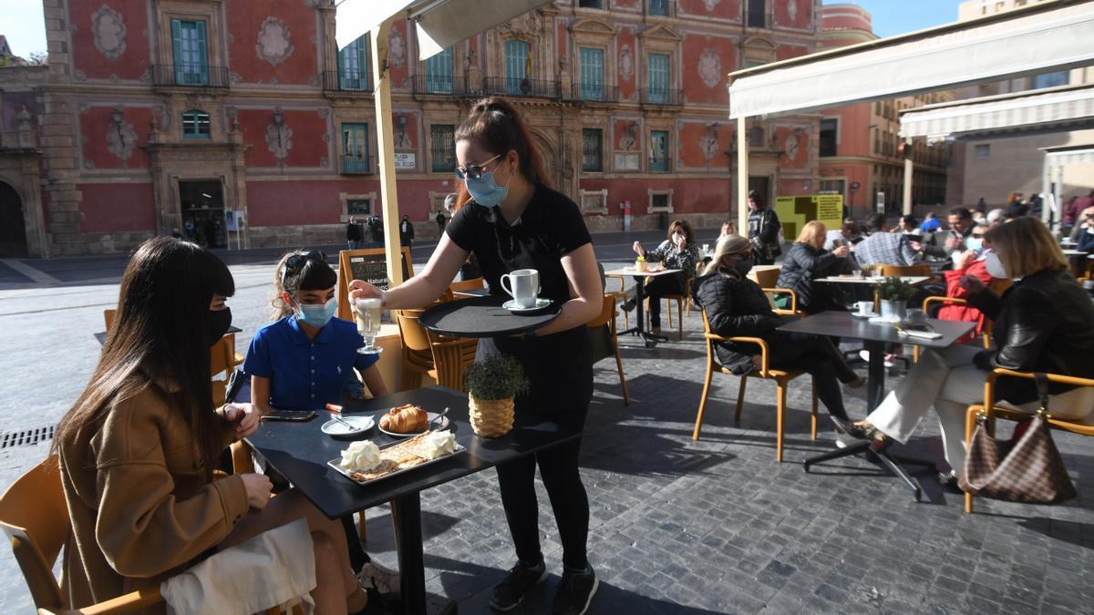 Las terrazas de Murcia reabrieron la pasada semana.