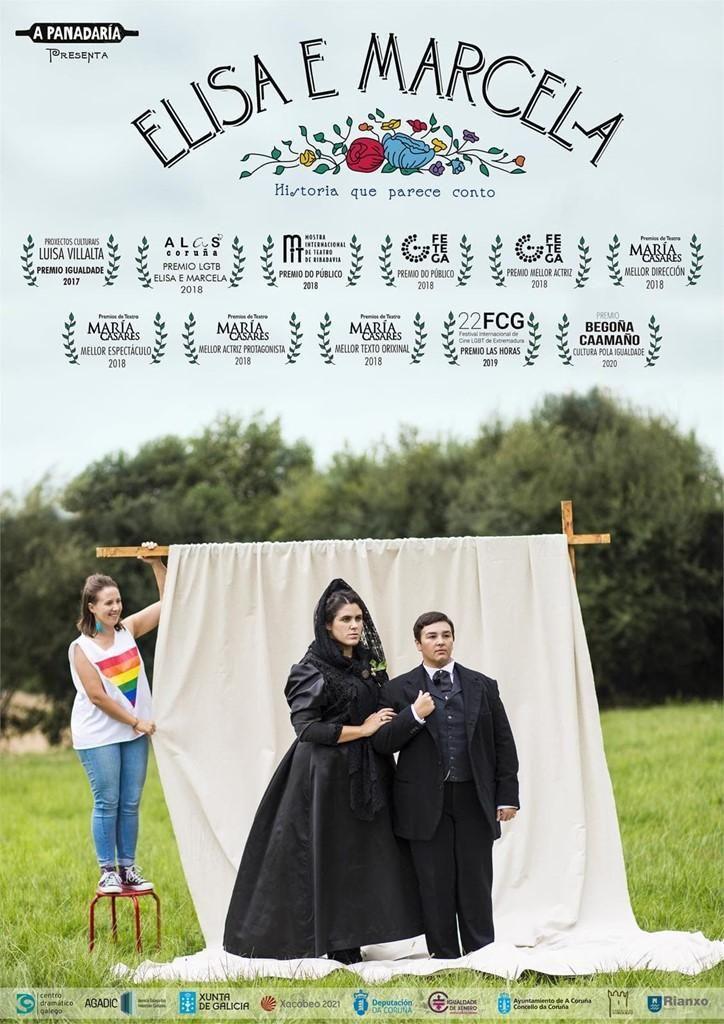 """Cartel de la obra """"Elisa e Marcela"""" / A Panadaría"""
