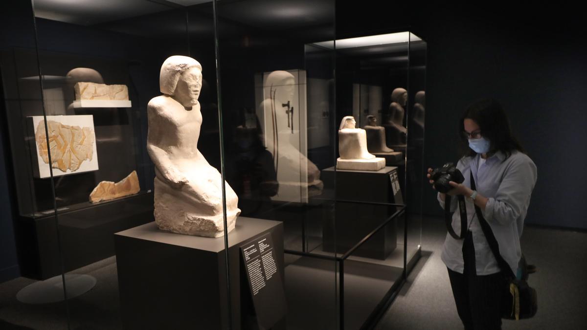 La exposición que se acerca a la civilización egipcia se podrá visitar hasta el 9 de enero.