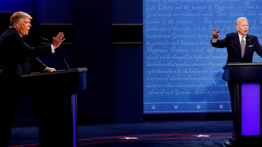Los micrófonos de Trump y Biden se silenciarán en turnos durante el próximo debate