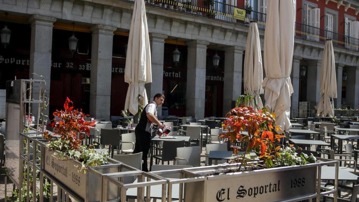 Una terrassa d'un restaurant.