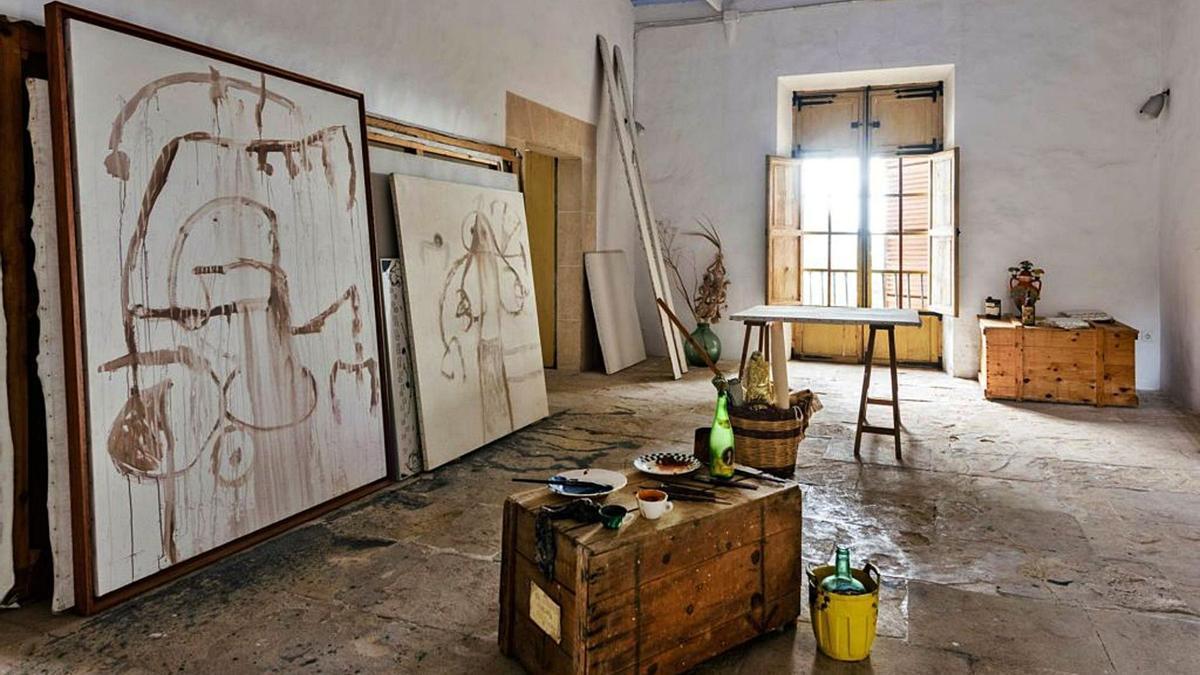 Panorámica de una de las estancias de Son Boter, el segundo estudio en los terrenos de la Fundació donde Miró trabajó.