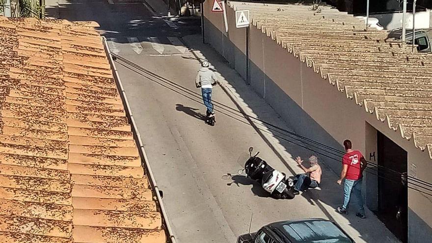 E-Rollerfahrer attackiert Motorradfahrer in Son Servera