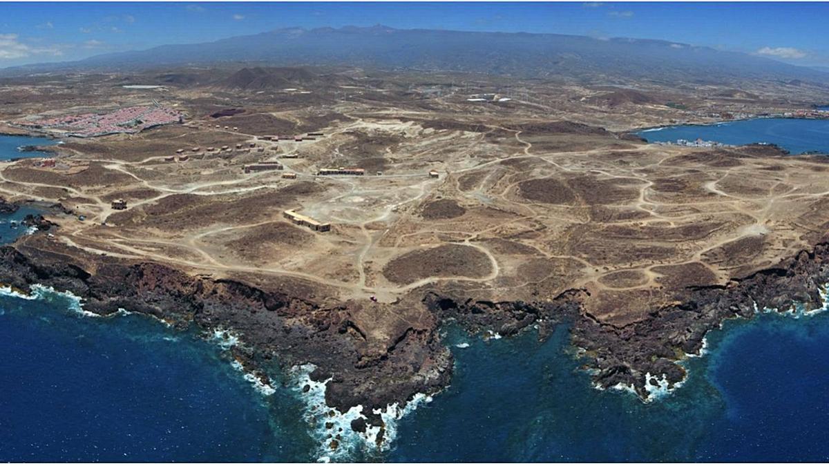 Zona en la que se proyecta el complejo turístico Punta de Abona, en Arico.